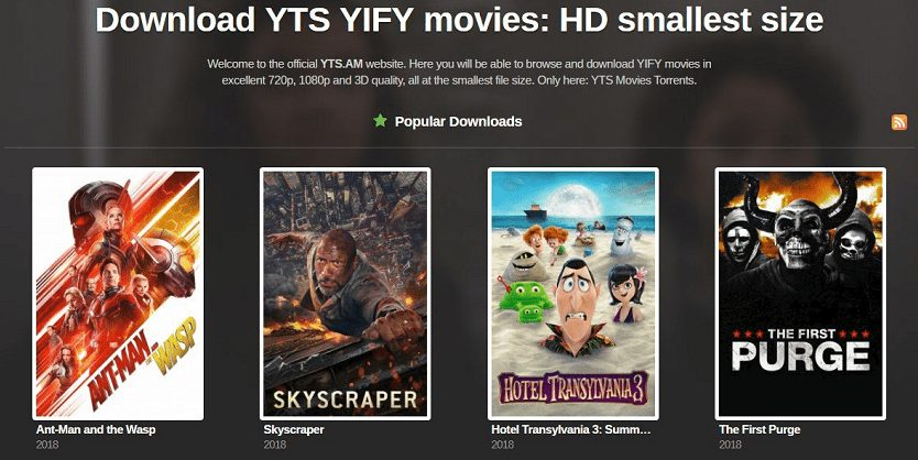 YTS & YIFY Torrents 2019 USA