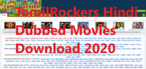 TamilRockers Hindi Dubbed Movies Download 2020